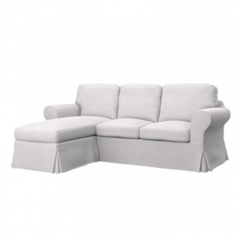 Ikea Ektorp 2 Seat Sofa With Chaise Longue Cover Ikea
