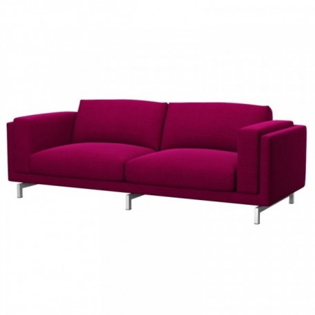 Ikea nockeby 3 seat sofa cover soferia covers for ikea for Ikea sofa rosa
