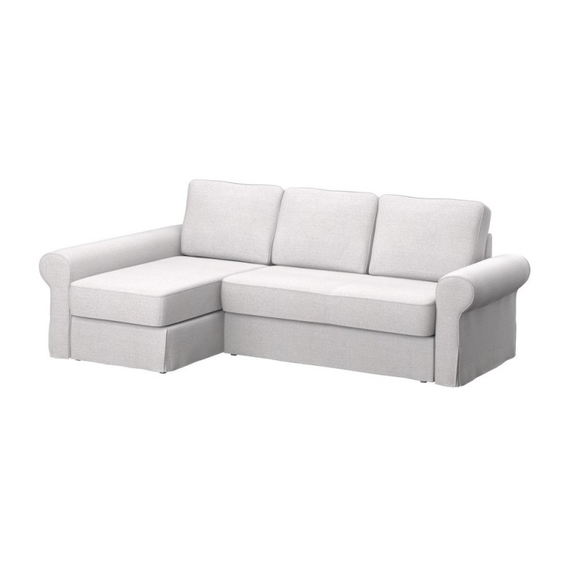 Ikea backabro sofa cover with chaise longue soferia for Chaise longue ikea uk