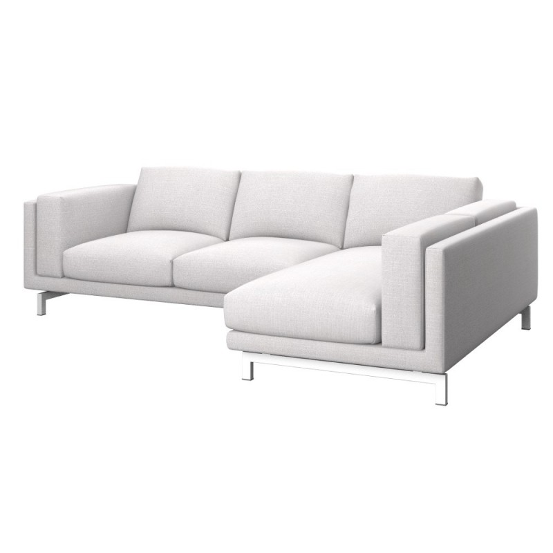 Ikea nockeby 2 seat sofa cover with right chaise longue for Sofas con chaise longue